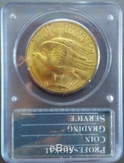 1908 $20 Saint-Gaudens Gold Double Eagle No Motto PCGS MS62 Rattler
