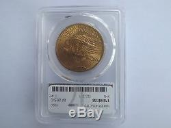 1908- $20 St. Gaudens Gold Double Eagle MS-64+ PCGS (No Motto)