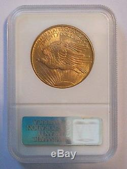 1908- $20 St. Gaudens Gold Double Eagle MS-64+ PCGS (No Motto) Near Gem