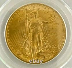1908 $20 St. Gaudens Gold Double Eagle No Motto PCGS MS64