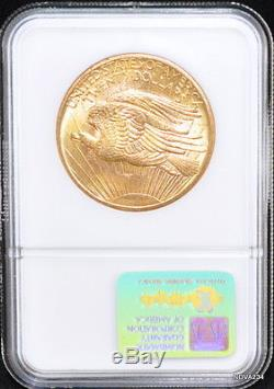1908 $20 St. Gaudens Nm Gold Double Eagle Ngc Ms-65 Wells Fargo Hoard Nevada