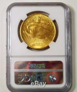 1908 $20 WITH MOTTO Gold St. Gaudens Double Eagle NGC MS-65