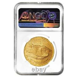 1908 D $20 Gold Saint Gaudens Double Eagle Coin No Motto NGC MS 63