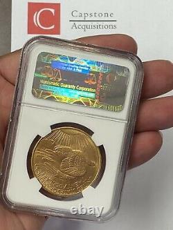 1908-D $20 Saint Gaudens Gold Double Eagle No Motto Pre 33 NGC MS63 Amazing PQ