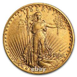 1908-D $20 Saint-Gaudens Gold Double Eagle withMotto XF SKU#104947