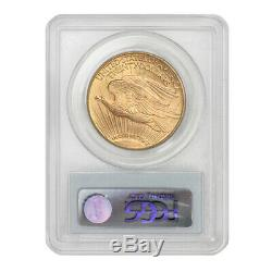1908-D $20 Saint Gaudens PCGS MS65 Motto Gold Double Eagle Gem grade Denver coin