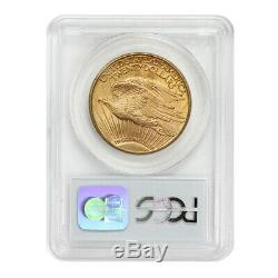 1908-D $20 Saint Gaudens PCGS MS65 Motto gem graded Gold Double Eagle Denver