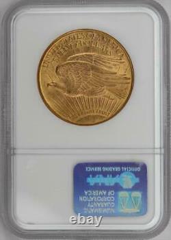1908-D Motto Saint St. Gaudens $20 Gold Double Eagle NGC MS 62