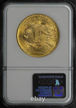 1908 Double Eagle $20 Gold St. Gaudens N/M Wells Fargo Nevada Gold NGC MS-66