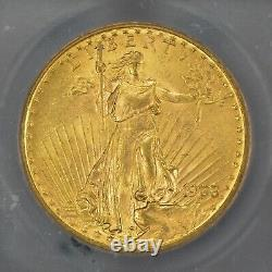 1908 G$20 Saint-Gaudens Gold Double Eagle No Motto ICG MS 63 Lot#Z633