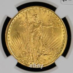 1908 G$20 Saint-Gaudens Gold Double Eagle No Motto NGC MS 64+ PLUS #Z634