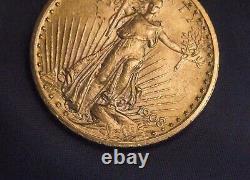 1908 Gold $20 Saint Gaudens Double Eagle U. S. Coin