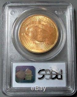 1908 Gold $20 St Gaudens No Motto Double Eagle Pcgs Mint State 65