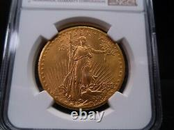 1908-MS64 No Motto St Gaudens Double Eagle NGC Certified Fantastic Coin