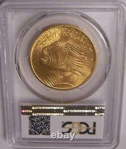 1908 NM $20 Philadelphia Gold GEM St Gaudens Double Eagle PCGS MS66+ Plus