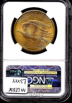 1908 NM G$20 St-Gaudens Gold Double Eagle MS68 NGC Wells Fargo Hoard 213167-005