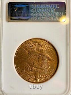 1908 No Motto $20 Gold Double Eagle St Gaudens NGC MS64 Very High Grade