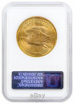1908 No Motto $20 Gold Saint-Gaudens Double Eagle NGC MS64 NO MOTTO SKU35689