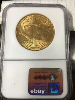 1908 No Motto $20 Gold St Gaudens Double Eagle NGC Certified MS62 In Old Holder