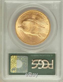 1908 No Motto $20 Saint Gaudens Double Eagle / PCGS MS-66 OGH