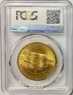 1908 No Motto $20 Saint-Gaudens Gold Double Eagle PCGS MS66+