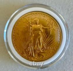 1908 No Motto $20 St. Gaudens Gold Double Eagle UNC
