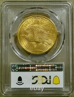 1908 No Motto PCGS MS65+ $20 Saint Gaudens Gold Double Eagle