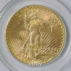 1908 No Motto Saint St Gaudens $20 Double Eagle Gold Coin Wells Fargo PCGS MS67