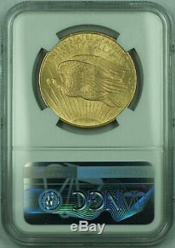 1908 No Motto St. Gaudens $20 Double Eagle Gold Coin NGC MS-64 (A)
