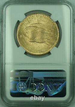 1908 No Motto St. Gaudens $20 Double Eagle Gold Coin NGC MS-64 (B)