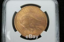1908 No Motto US Gold $20 Saint Gaudens Double Eagle NGC MS66 091