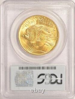 1908 No Motto Wells Fargo $20 Saint Gaudens Gold Double Eagle Coin PCGS MS66