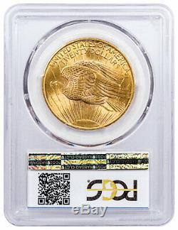 1908 Saint-Gaudens No Motto $20 Gold Double Eagle PCGS MS65