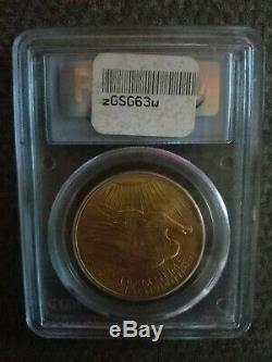 1908 U. S. Twenty Dollar Gold Piece, MS-63, No Motto, St. Gaudens, Double Eagle
