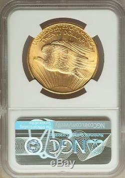 1908 US Gold $20 Saint Gaudens Double Eagle No Motto NGC MS66