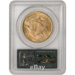 1908 US Gold $20 Saint-Gaudens Double Eagle No Motto PCGS MS66 Wells Fargo