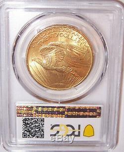 1908NM $20 St Gaudens PCGS MS66 GEM Philadelphia Gold Double Eagle