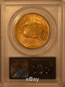 1909 $20 St. Gaudens Gold Coin Double Eagle PCGS MS62 OGH