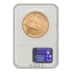 1909-S $20 Saint Gaudens Double Eagle NGC MS65 Gem Certified Gold San Francisco