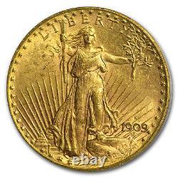 1909-S $20 Saint-Gaudens Gold Double Eagle MS-62 PCGS SKU#25439