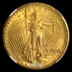 1909-S S/S $20 Saint-Gaudens Gold Double Eagle MS-63 NGC (FS-501) SKU#196928