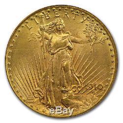 1910-D $20 Saint-Gaudens Gold Double Eagle MS-65 PCGS SKU #22595