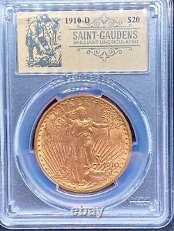 1910-D PCGS BU Saint Gaudens Brilliant Uncirculated PCGS Prospector Double Eagle