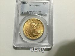 1910-D PCGS MS63 Gold $20 Saint-Gaudens Double Eagle MINT 429,000