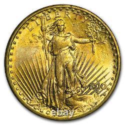 1910-S $20 Saint-Gaudens Gold Double Eagle AU SKU#28181