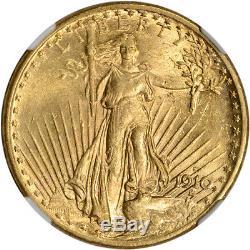 1910-S US Gold $20 Saint-Gaudens Double Eagle NGC MS62