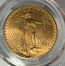 1911-D $20 PCGS MS 64 CAC St. Gaudens Gold Double Eagle
