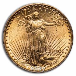 1911-D $20 Saint-Gaudens Gold Double Eagle MS-62 PCGS