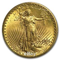 1911-D $20 Saint-Gaudens Gold Double Eagle MS-65 PCGS SKU #20659