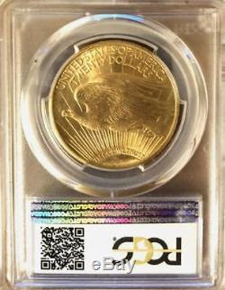 1911 D $20 Saint Gaudens Gold Double Eagle PCGS MS 65